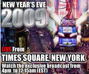 Times Square Ball Drop Live 2009