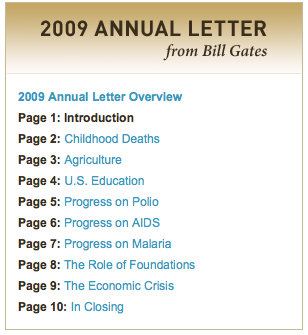 2009 Annual Letter From Bill Gates