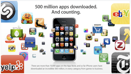 Apple App Store 500 Million Downloads