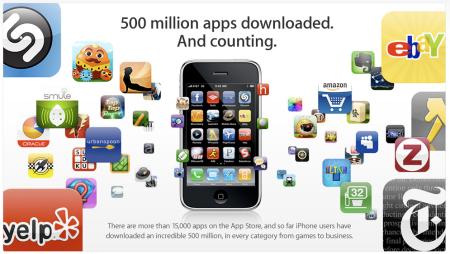 Apple App Store 500 Million Downloads