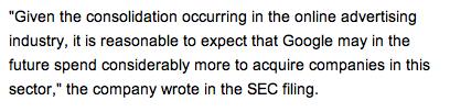 Google December 15 2008 SEC Filing