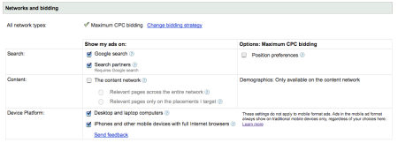 Google Networks Bidding
