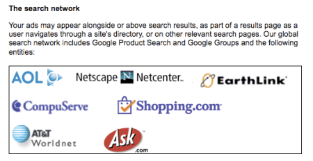 Google Search Network Partners