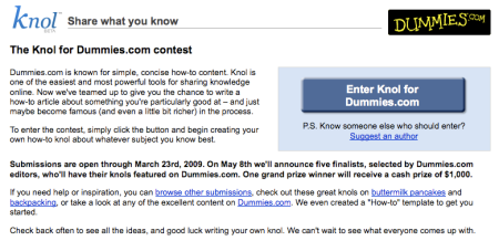 Google Knol For Dummies.com Contest Rules