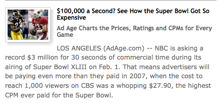 SuperBowl XLIII Ads