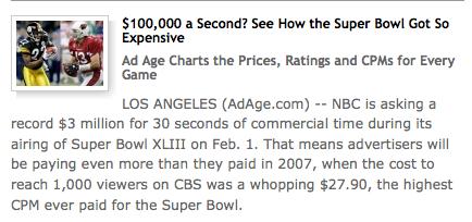 SuperBowl XLIII Ads
