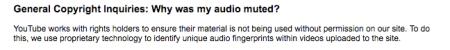 YouTube Audio Muted