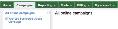 Google Adwords Beta Campaigns Tab