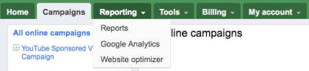 Google Adwords Beta Reporting Tabs