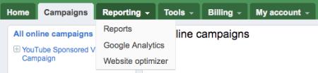 Google Adwords Beta Reporting Tabs