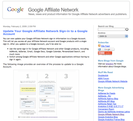 Google Affiliate Network Blog