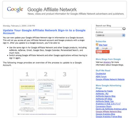 Google Affiliate Network Blog
