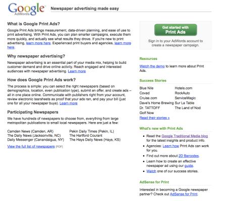 Google Print Ads?