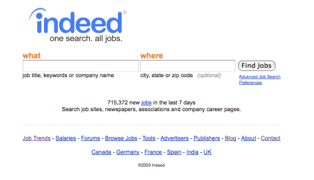Indeed.com Job Search Engine