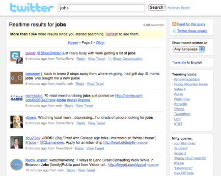 Search Twitter For Jobs