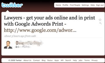 Twitter Print Ads