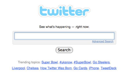 Twitter Superbowl Search