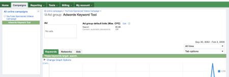 YouTube Sponsored Video Campaign Adwords Beta Dashboard