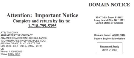 Domain Notice