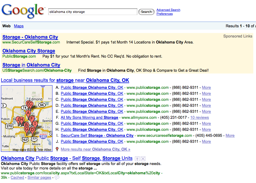 Stacking the Deck in Google Maps? | Search Marketing Communications