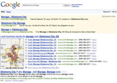 Oklahoma City Storage Google Maps