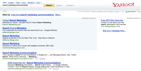 Yahoo Search Marketing Communications
