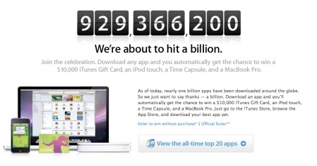 One Billion Apps