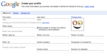 Google Account Profile