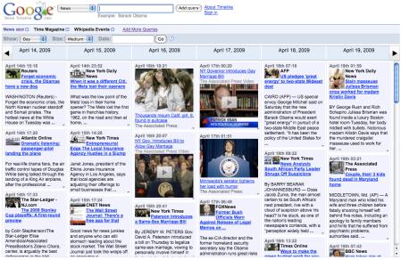 Google News Timeline Googlelabs