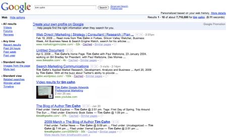 Google Profile Promotion