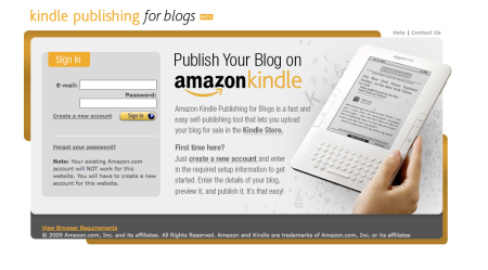 Amazon Kindle Publishing for Blogs