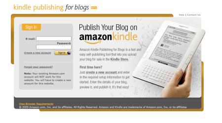 Amazon Kindle Publishing for Blogs