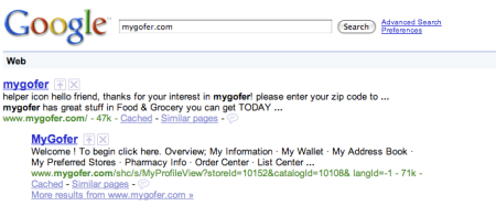 My Gofer Search Result