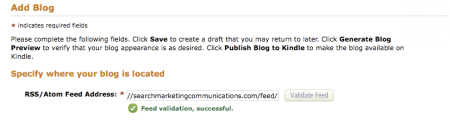 Publish Blog To Amazon Kindle