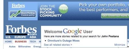 Welcome Google User