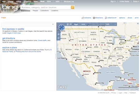 Bing Business Category or Location