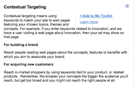 Google Contextual Targeting