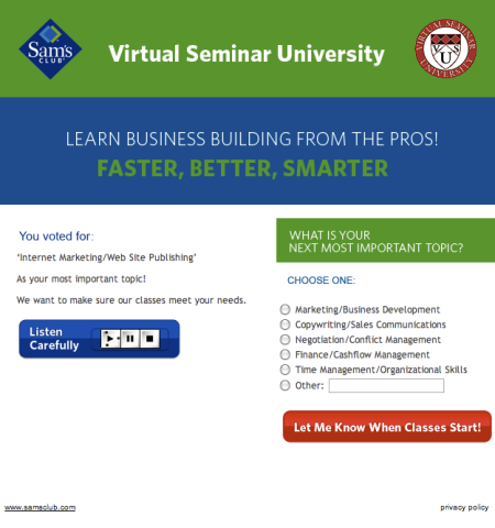 Virtual Seminar University Internet Marketing
