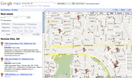 Google Maps Real Estate Listings Search