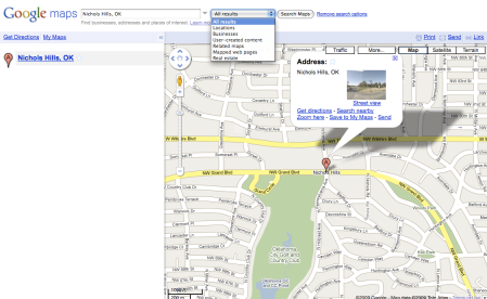 Google Maps Real Estate Listings