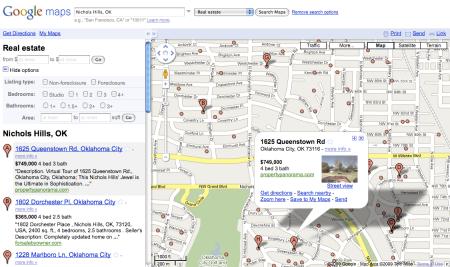 Google Real Estate Listing Data