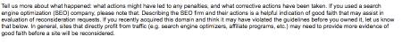 Google Webmaster Site Review