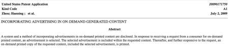 Incorporating Advertising in on Demand Generated Content