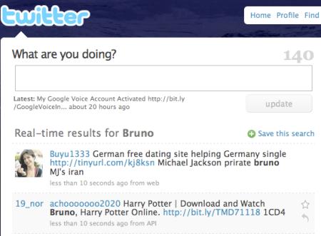 Pirates Pushing Illegal Movie Downloads via Twitter