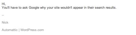 Wordpress Response