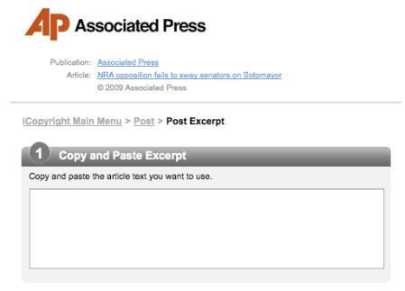 AP Copy and Paste Excerpt