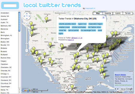 Local Twitter Trends by City