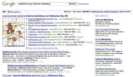 Facebook MySpace Google Pay Per Click Ads