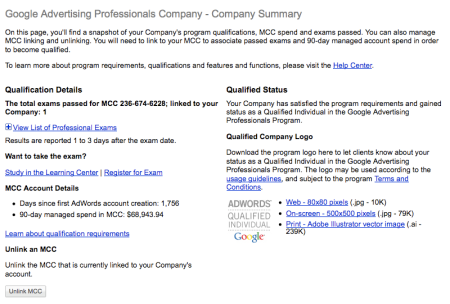 Google Advertising Professionals Company