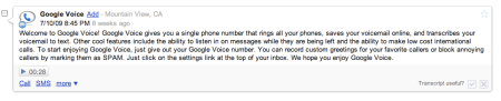 Welcome To Google Voice